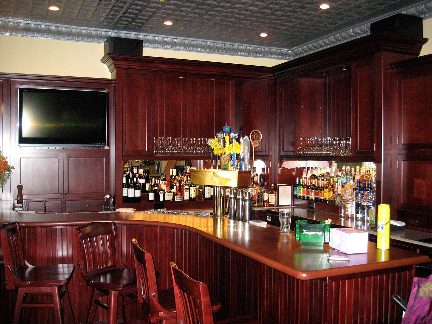 Custom Douglass Fir Bar. Philmont, NY.