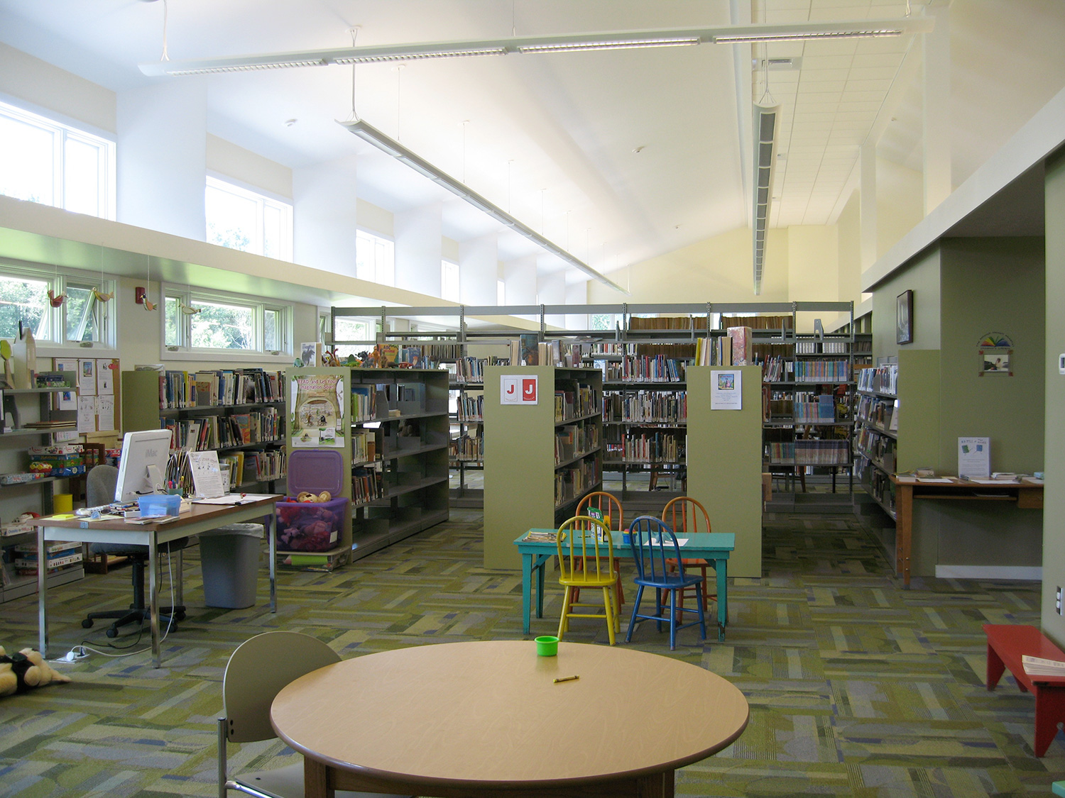Roe Jan Library Interior. Copake, NY.
