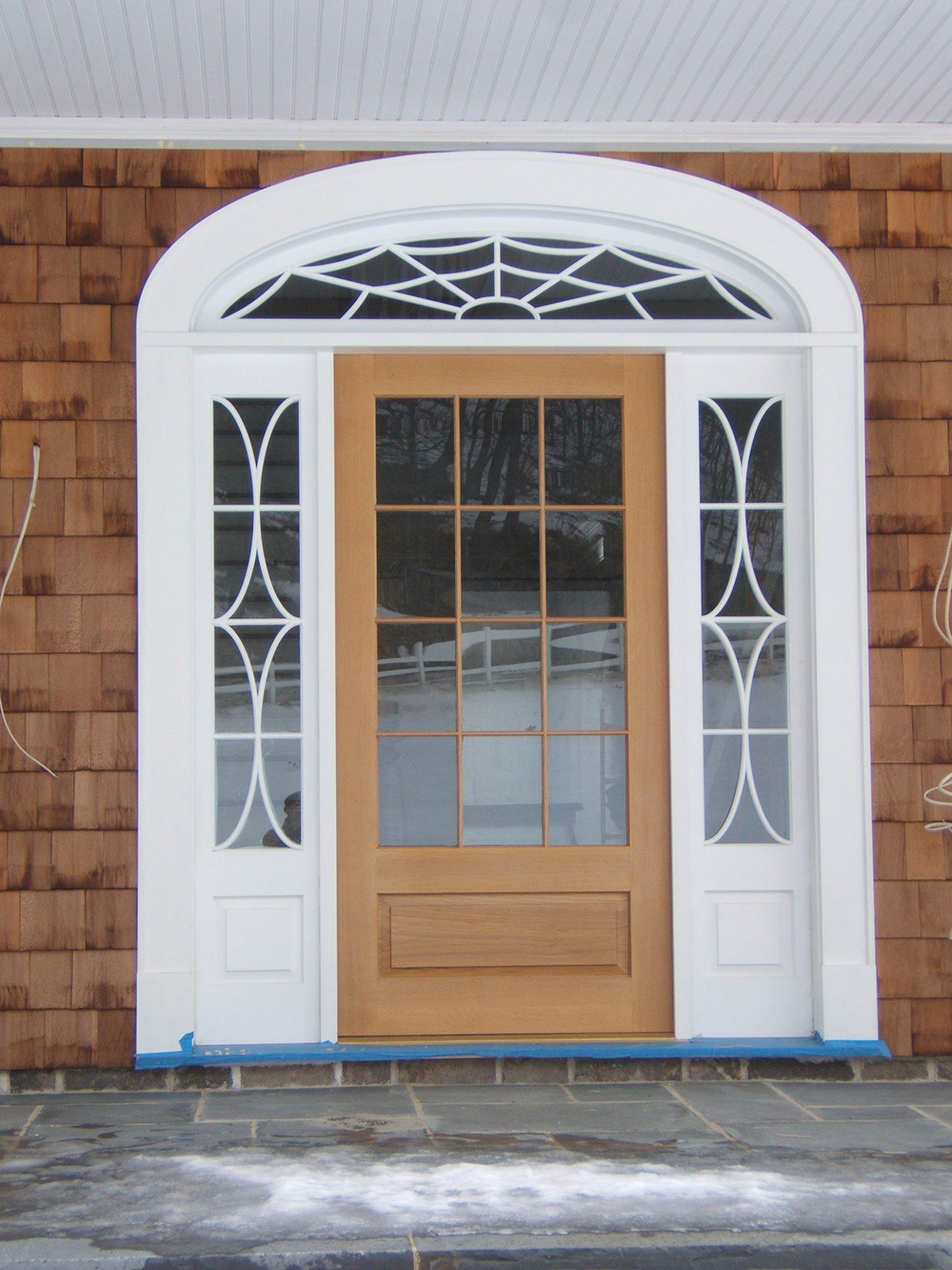 Custom front door. Every piece hand made. The spider web is so fitting. Hillsdale, NY.