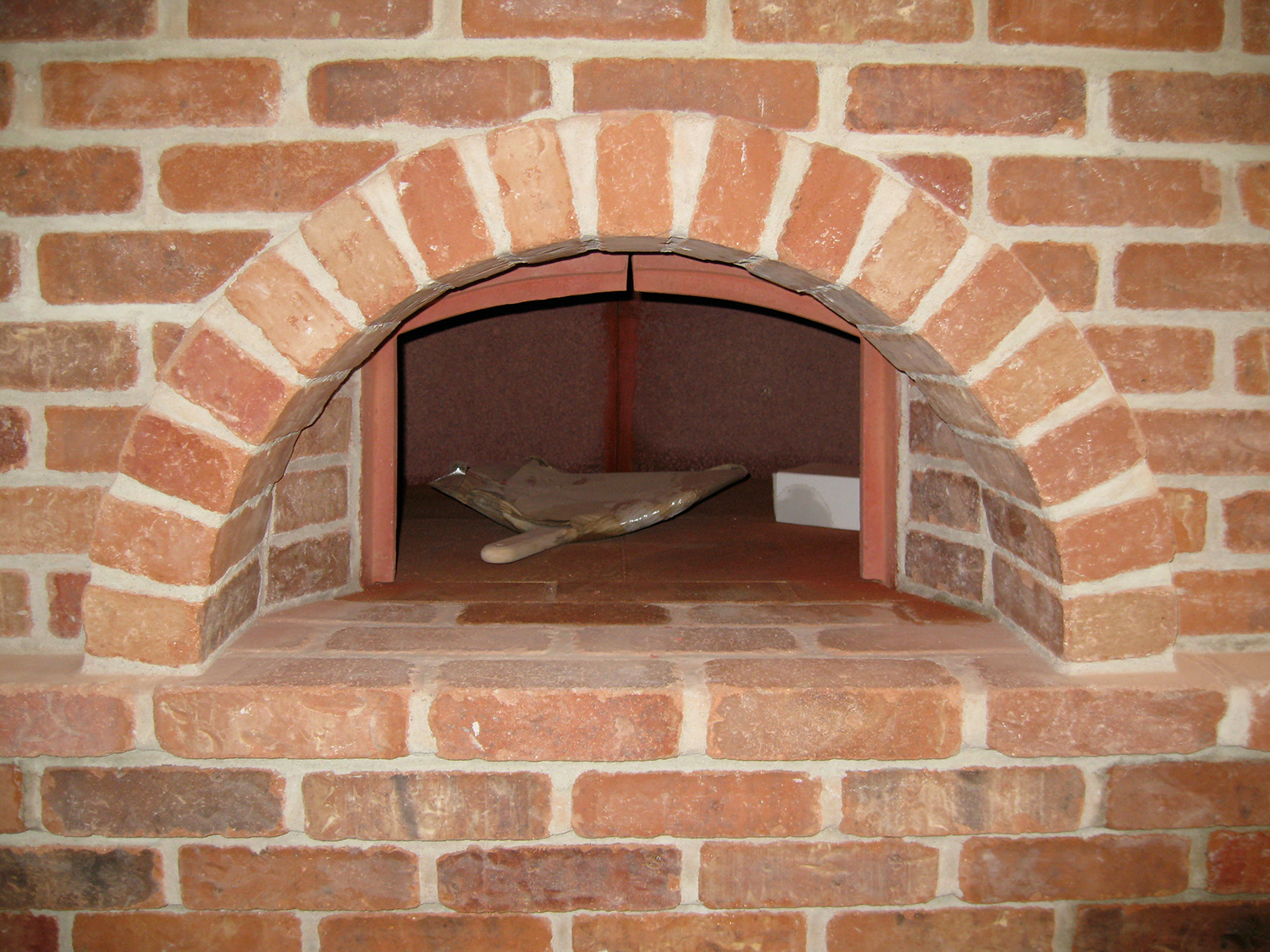 Custom pizza oven for a great kitchen feature. Gallatin, NY.